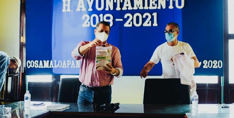ALCALDE Y DR. MORA, ABREN HOSPITAL EXPRÉS PARA PACIENTES COVID DE COSAMALOAPAN