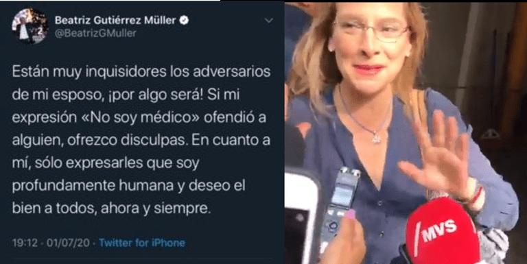 SE DISCULPA ESPOSA DE AMLO, ANTE EXPRESIÓN DE NO SER MÉDICO POR NIÑOS CON CÁNCER