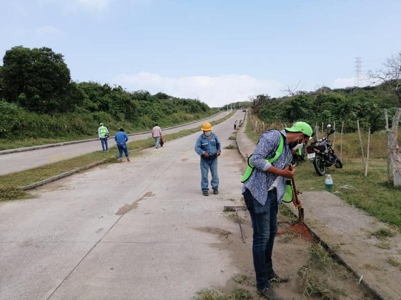 LIMPIEZA DE CALLES DE ALVARADO, ES LABOR DIARIA DEL GOBIERNO DE BOGAR