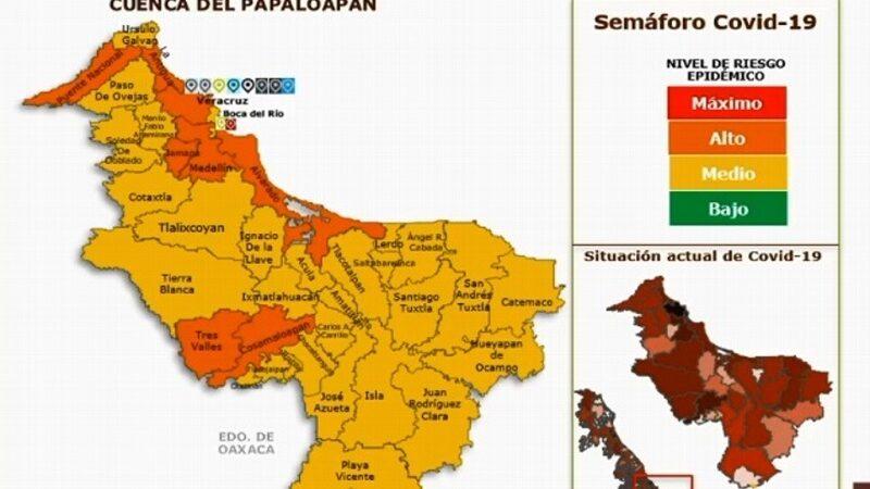 VERACRUZ, ALVARADO Y MEDELLÍN SIGUEN EN NARANJA, BOCA EN AMARILLO POR COVID