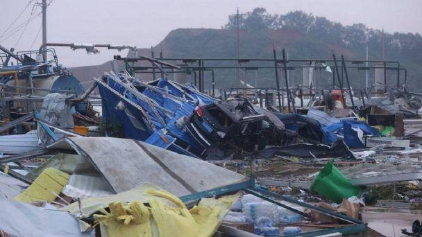 AL MENOS 12 MUERTOS Y CIENTOS DE HERIDOS, DEJA PASO DE TORNADOS EN CHINA