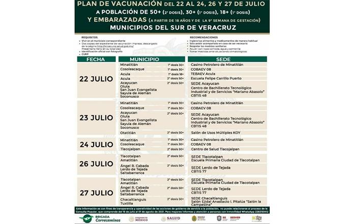 ACULA, PRIMER MUNICIPIO EN RECIBIR VACUNA COVID PARA 18 AÑOS