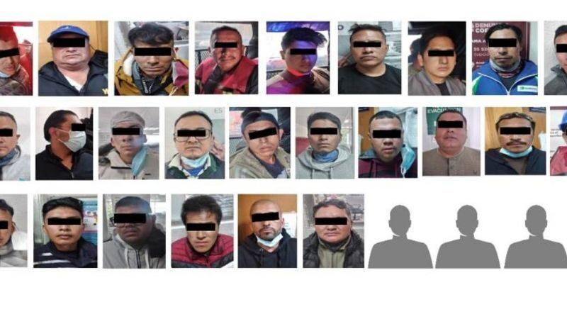 DETIENEN A 28 INVASORES DE TIERRA EN CDMX