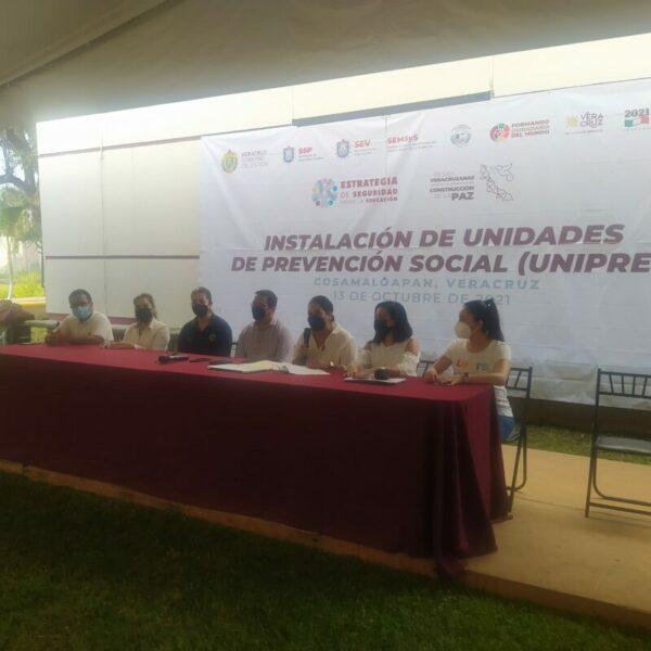 INSTALAN EN TEC DE COSAMALOAPAN, UNIDADES DE PREVENCIÓN DEL DELITO